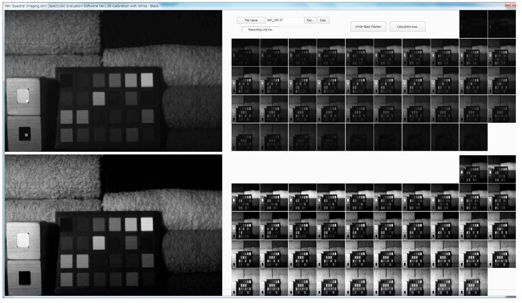 分光イメージングユニット ハイパースペクトルカメラ 分光イメージングカメラ 分光イメージングカメラ解析ソフト